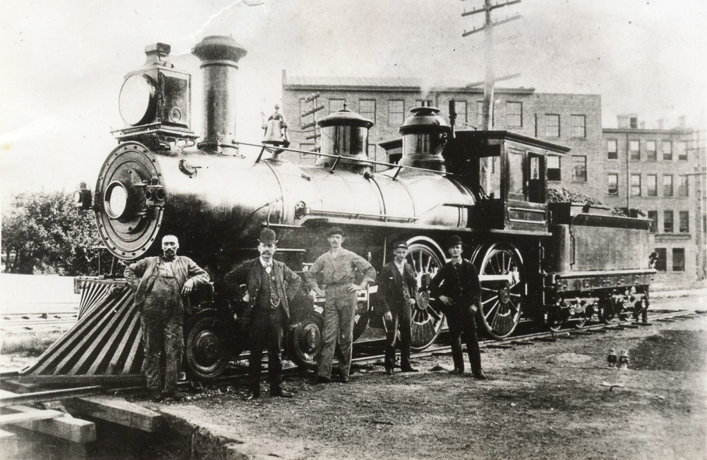 1881, Housatonic Railroad locomotive and crew