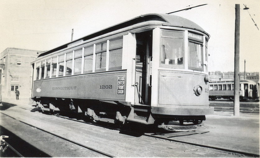 Connecticut Company car 1202 in Waterbury, 1934 (2012-0077_ph1)