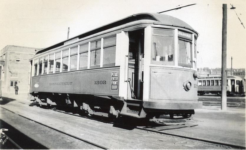Connecticut Company car 1202 in Waterbury, 1934 (2012-0077_ph1)