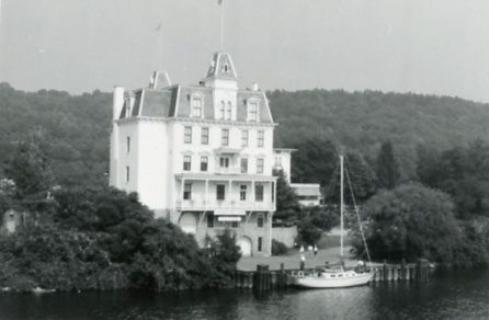 Goodspeed Opera House, East Hampton, Connecticut, from the Connecticut Historic Preservation Collection, Archives & Special Collections, University of Connecticut Libraries.