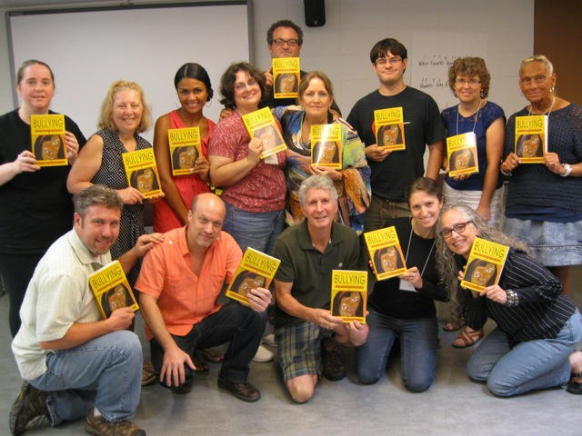 Magdalena with educators in an anti-bullying workshop