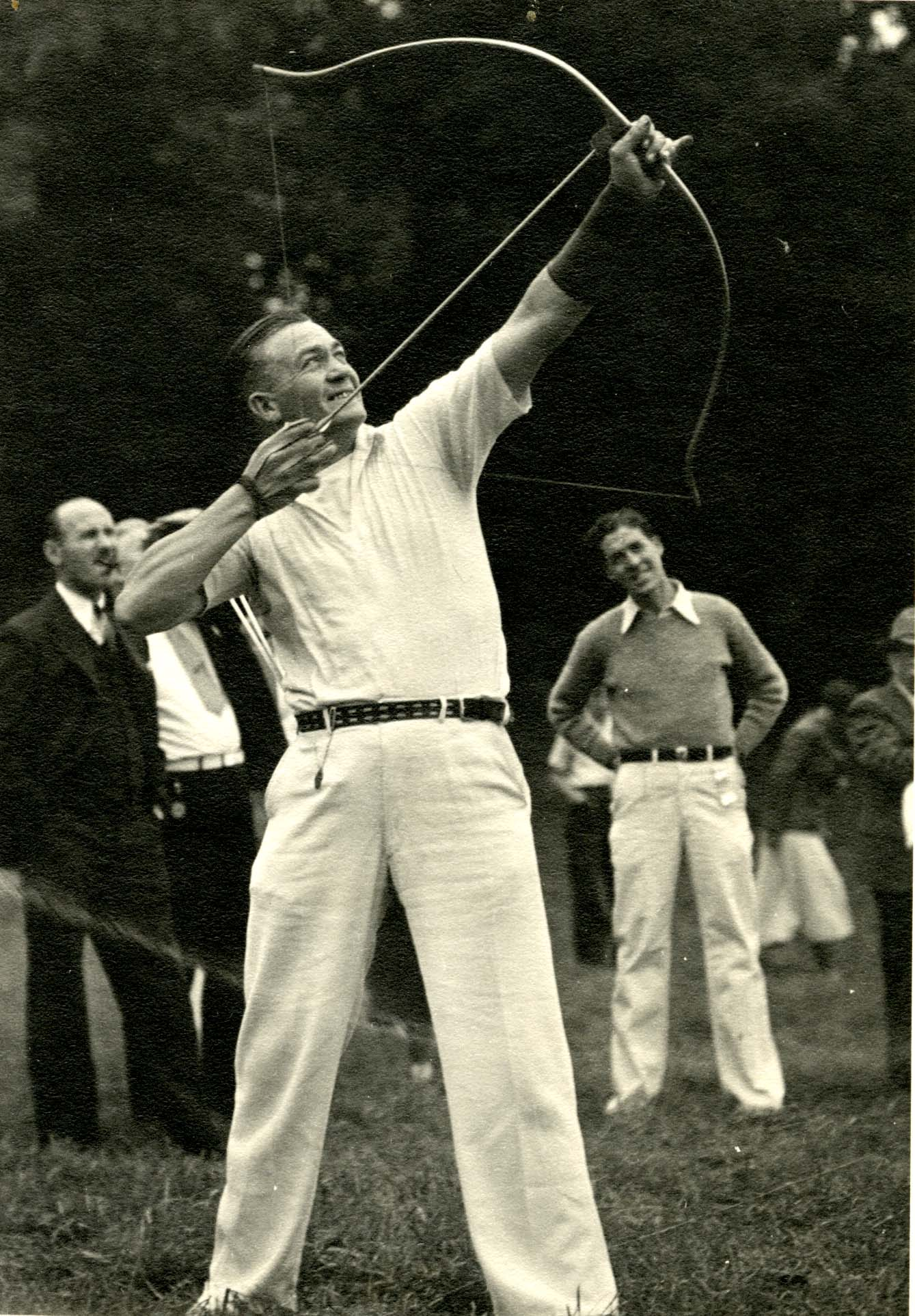 Archery [possibly the National Tournament], circa 1933