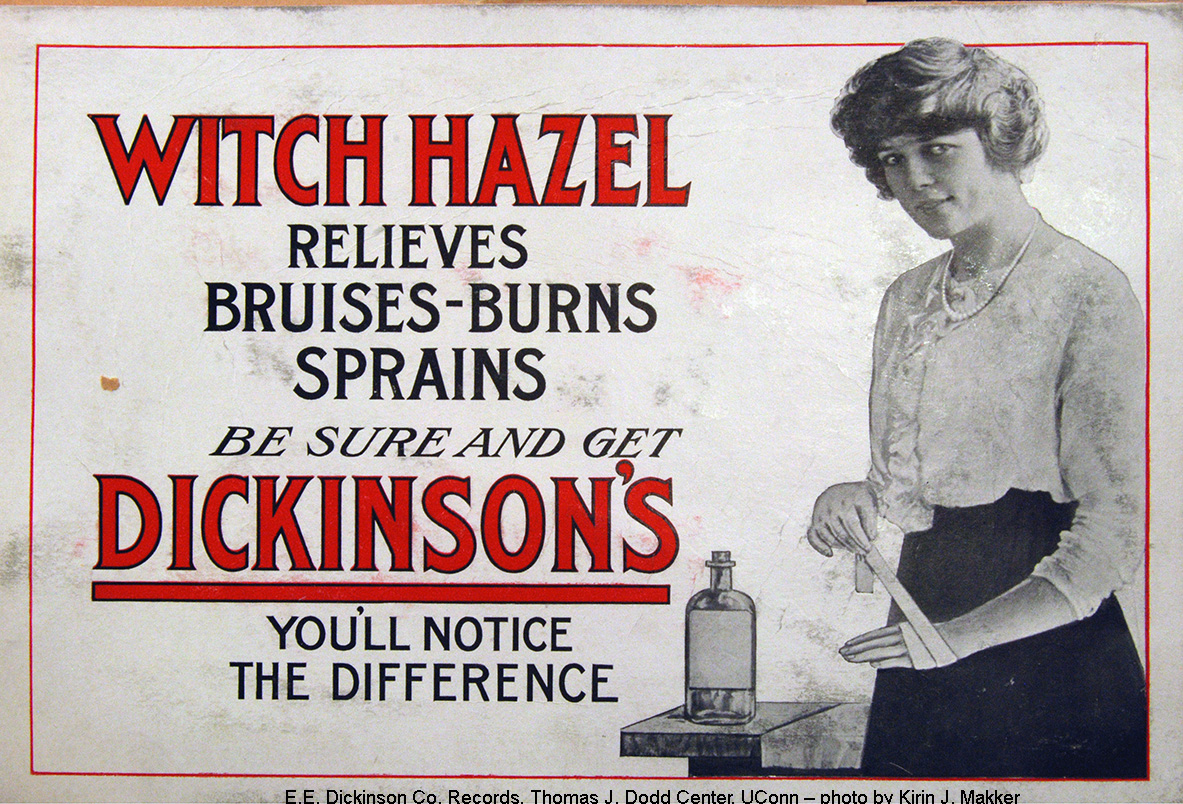 Advertisement for Witch Hazel, E. E. Dickinson Company Records
