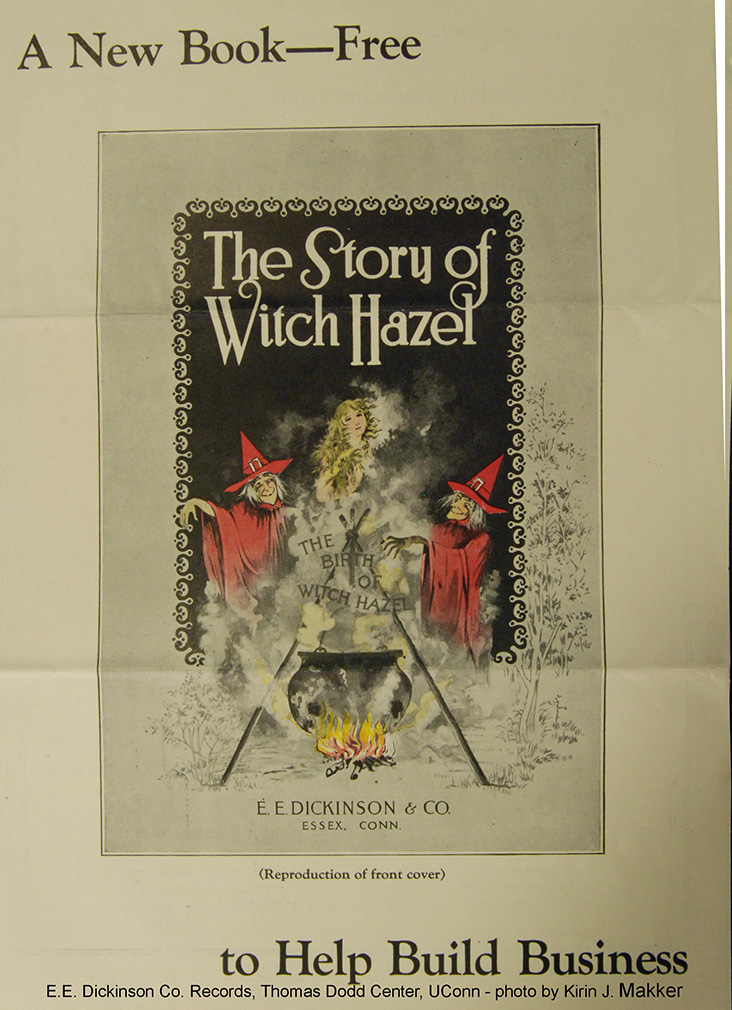 Cover of booklet, The Story of Witch Hazel, E. E. Dickinson Company Records