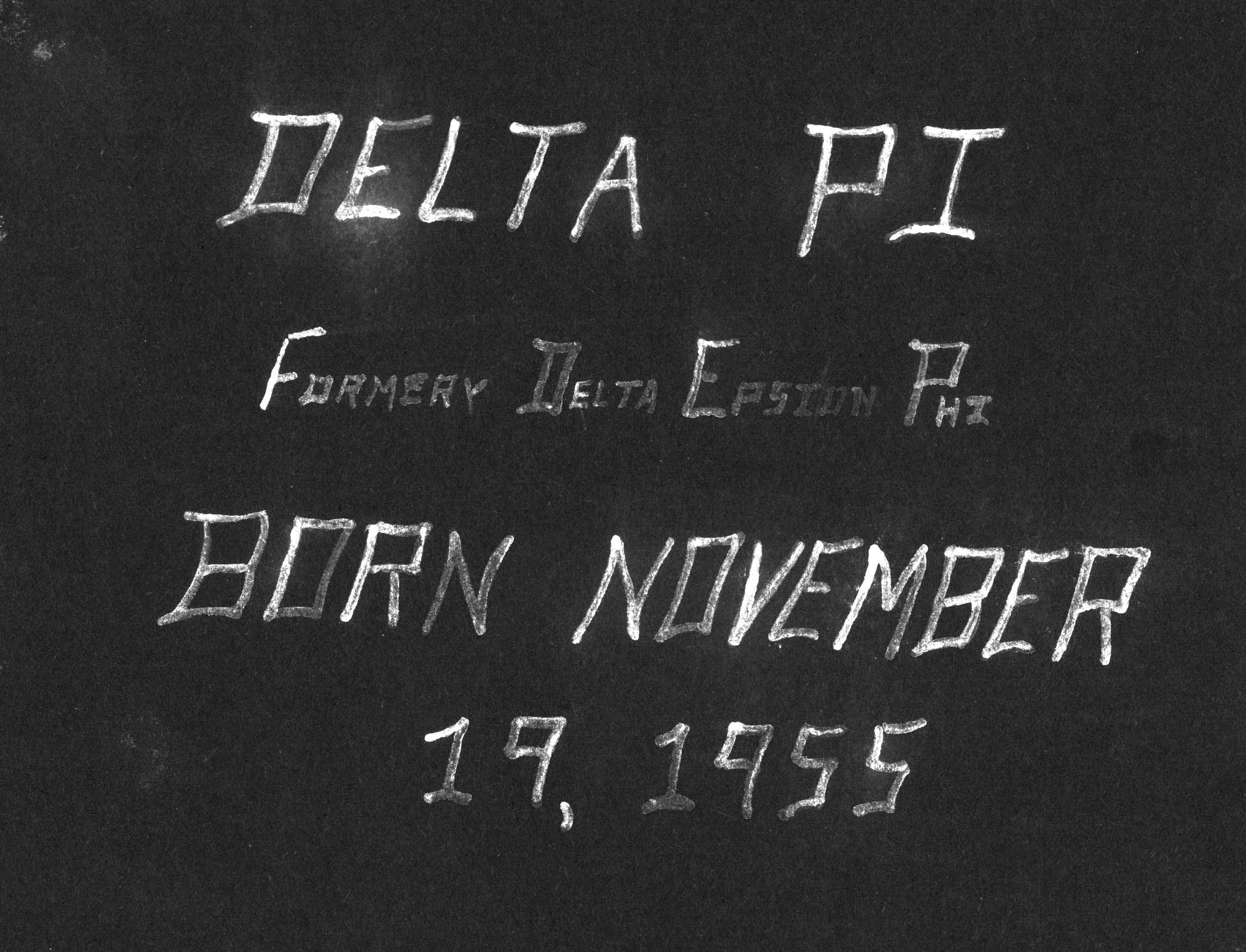 Delta Pi Scrapbook 1955-1958
