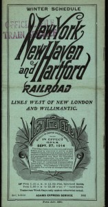 New York, New Haven & Hartford Railroad timetable, September 1914