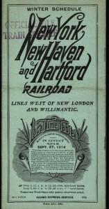 New York, New Haven & Hartford Railroad timetable, September 1914