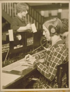 Southern New England Telephone Company switchboard operator, 1929