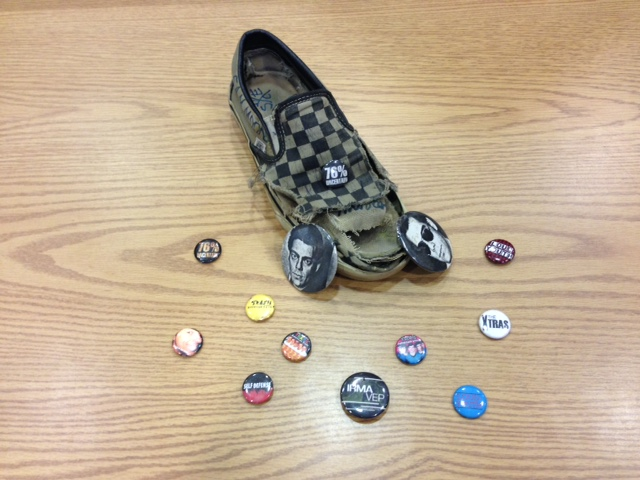 Pins and Vans sneaker, Joe Snow Punk Rock Collection.