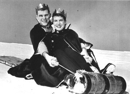 Winter Weekend King and Queen, from the 1958 Nutmeg