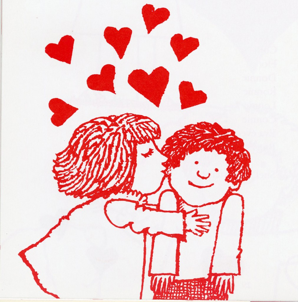 "Drawing by Tomie dePaola, in his book ""Good Morning to You, Valentine!"""