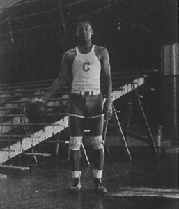 "Harrison ""Honey"" Fitch, the first African-American basketball player at the Connecticut State College, 1934"