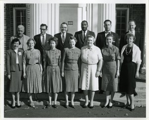 Faculty and staff at UConn's School of Social Work, ca. late 1950s