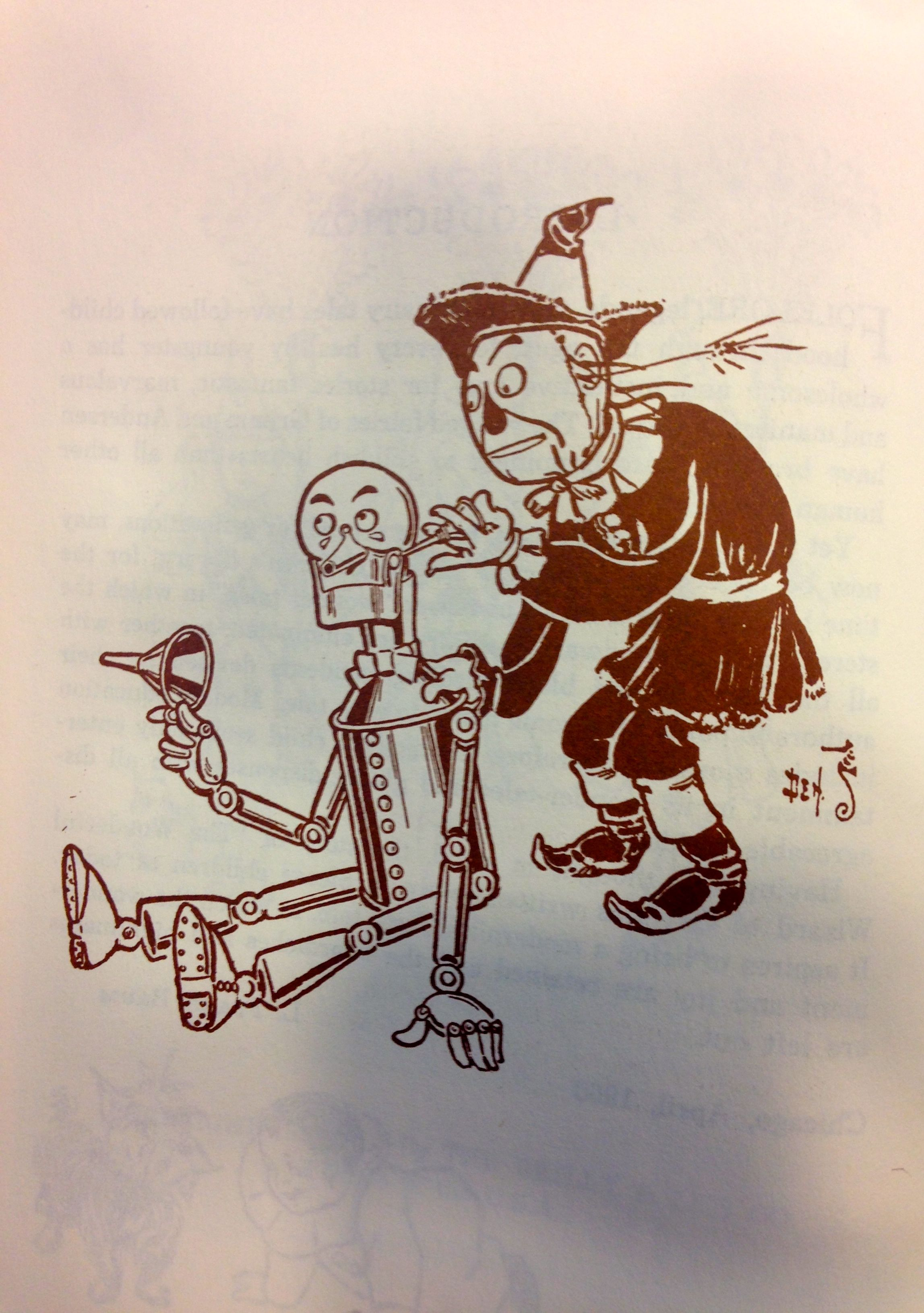 Tinman in Wizard of Oz