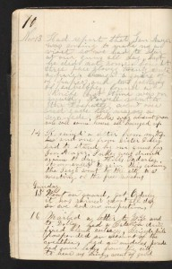 Page from the diary of D. Alonzo Smith
