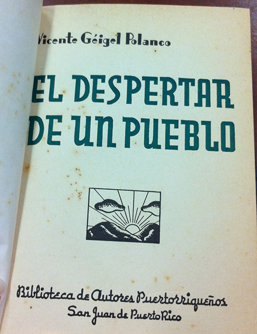 El Despertar de un Pueblo by Vicente Géigel Polanco