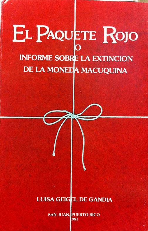 Cover. Luisa Géigel book, El Paquete Rojo