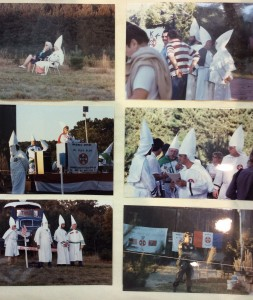 Members of the Invisible Empire of the Ku Klux Klan of Shelton, CT. East Windsor, August 30, 1984.
