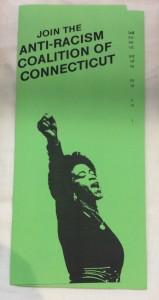 Anti-Racism Coalition of Connecticut, pamphlet.