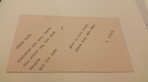 Charles Olson to Frances Boldereff, January 10, 1950, Box 183. Archives and Special Collections  at the Thomas J. Dodd Research Center, University of Connecticut Libraries.