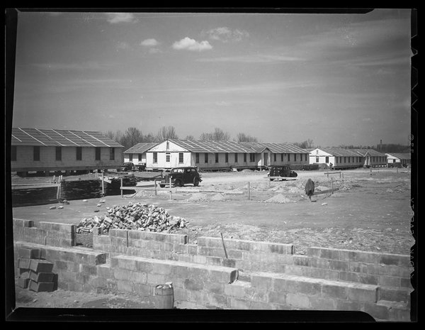 Veteran's barracks, 1946