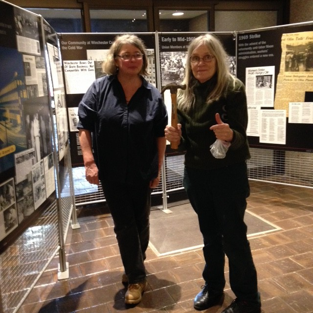 Monica McGovern and Joan Cavanagh of the Greater New Haven Labor History Association