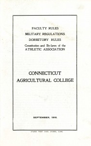 CAC Student Handbook, 1916 edition