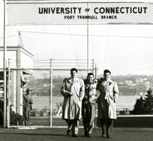 Students at the Fort Trumbull Campus in New London, circa 1946.