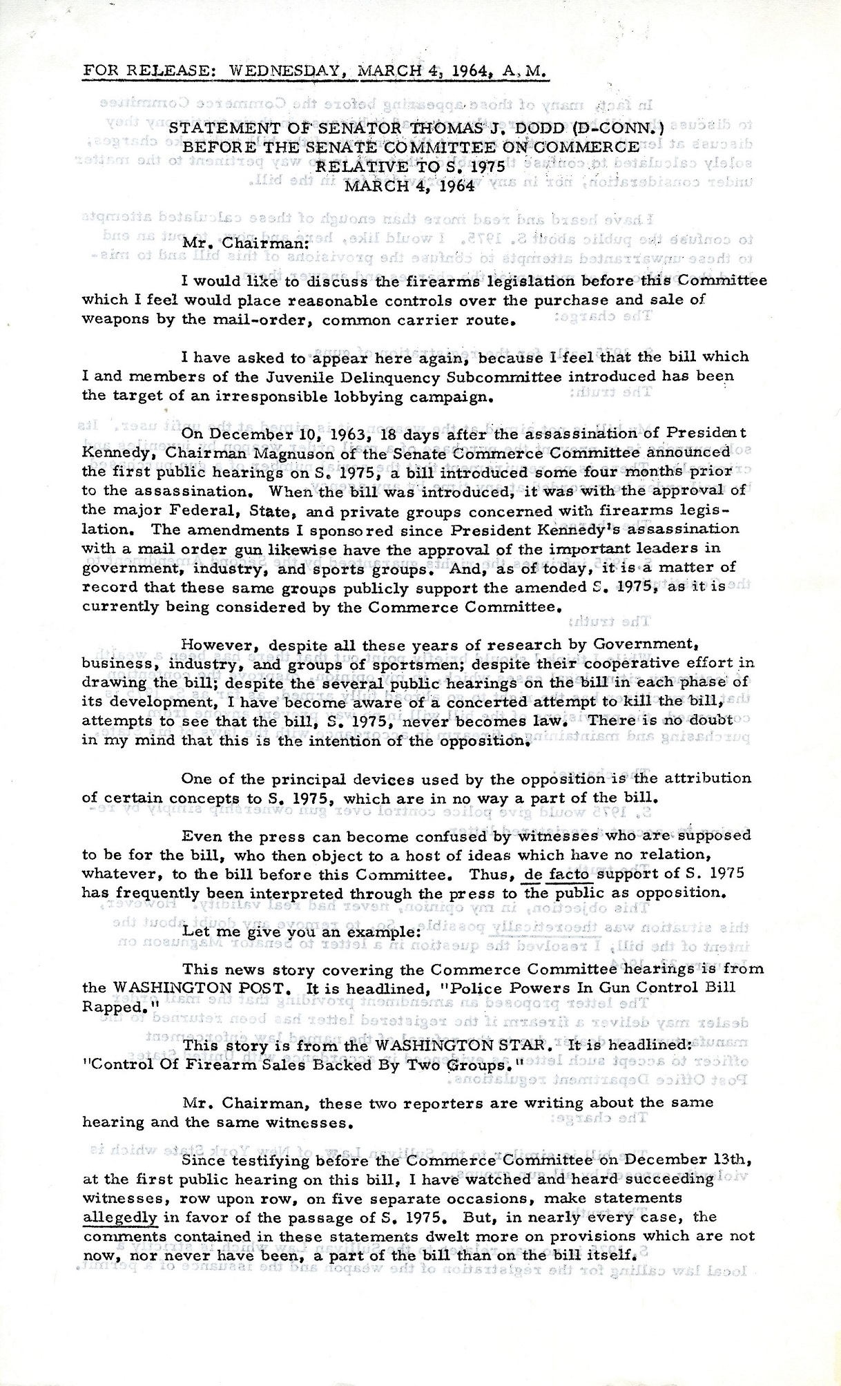 The Fight for the Gun Control Act of 1968   Archives and Special ...