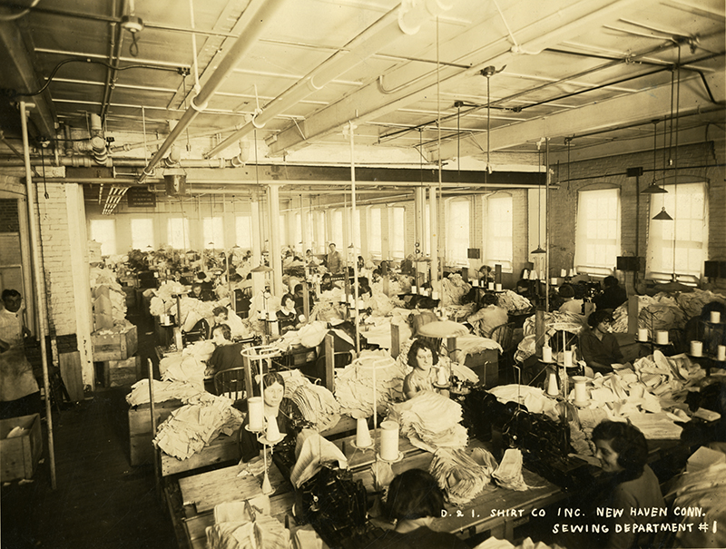 Sewing Department, D&I Shirt Company, New Haven, Connecticut