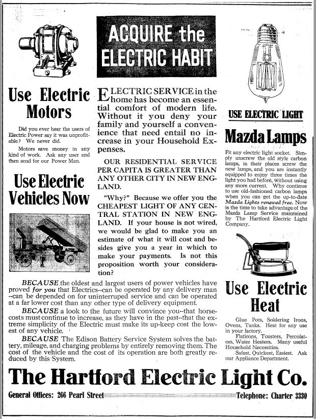 Hartford Electric Light Company And The Marketing Of