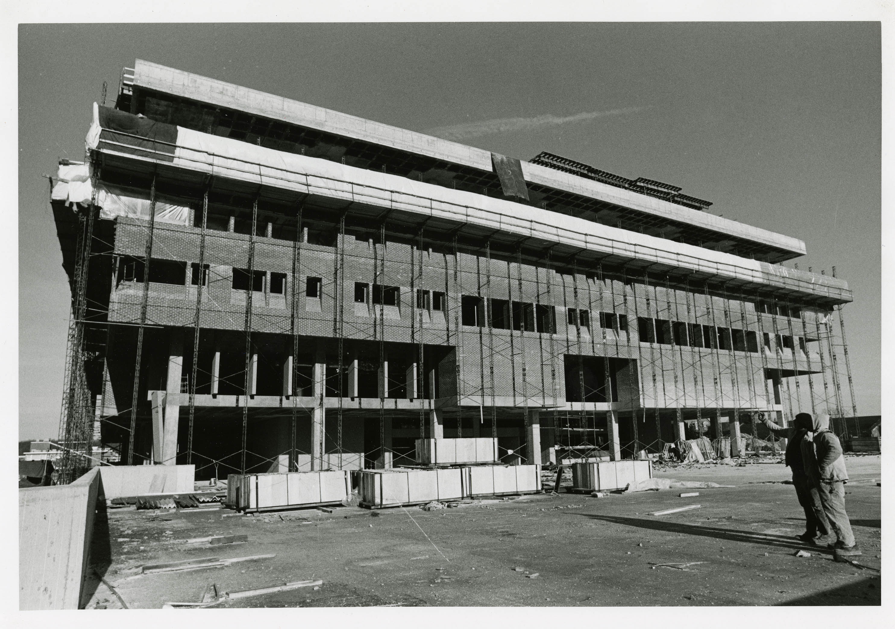 University of Connecticut Library under construction, December 3, 1976