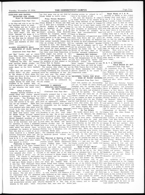 Page 9 of the November 13, 1934, issue of Connecticut Campus