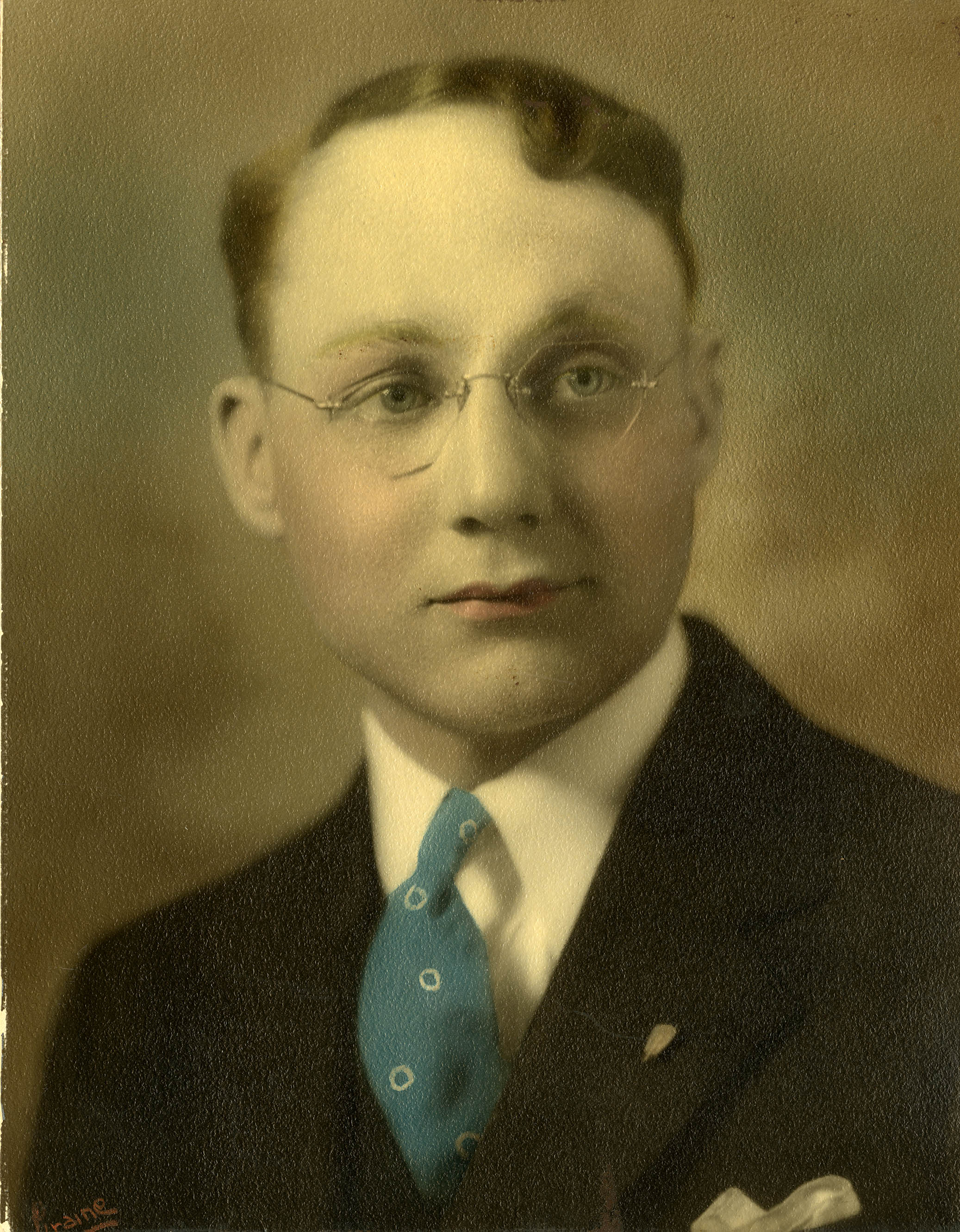 Merlin D. Bishop, high school graduation photograph, 1931