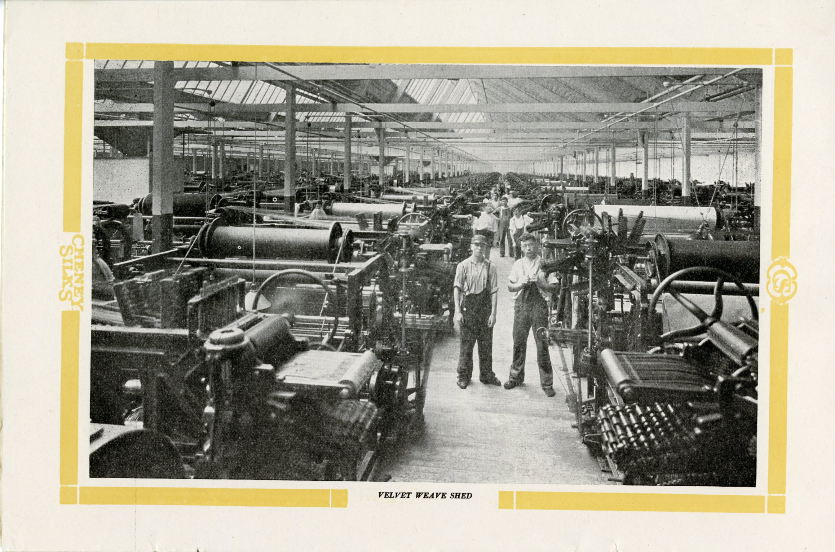 Photograph of the Velvet Weave Shed of Cheney Brother Silk Manufacturing Company