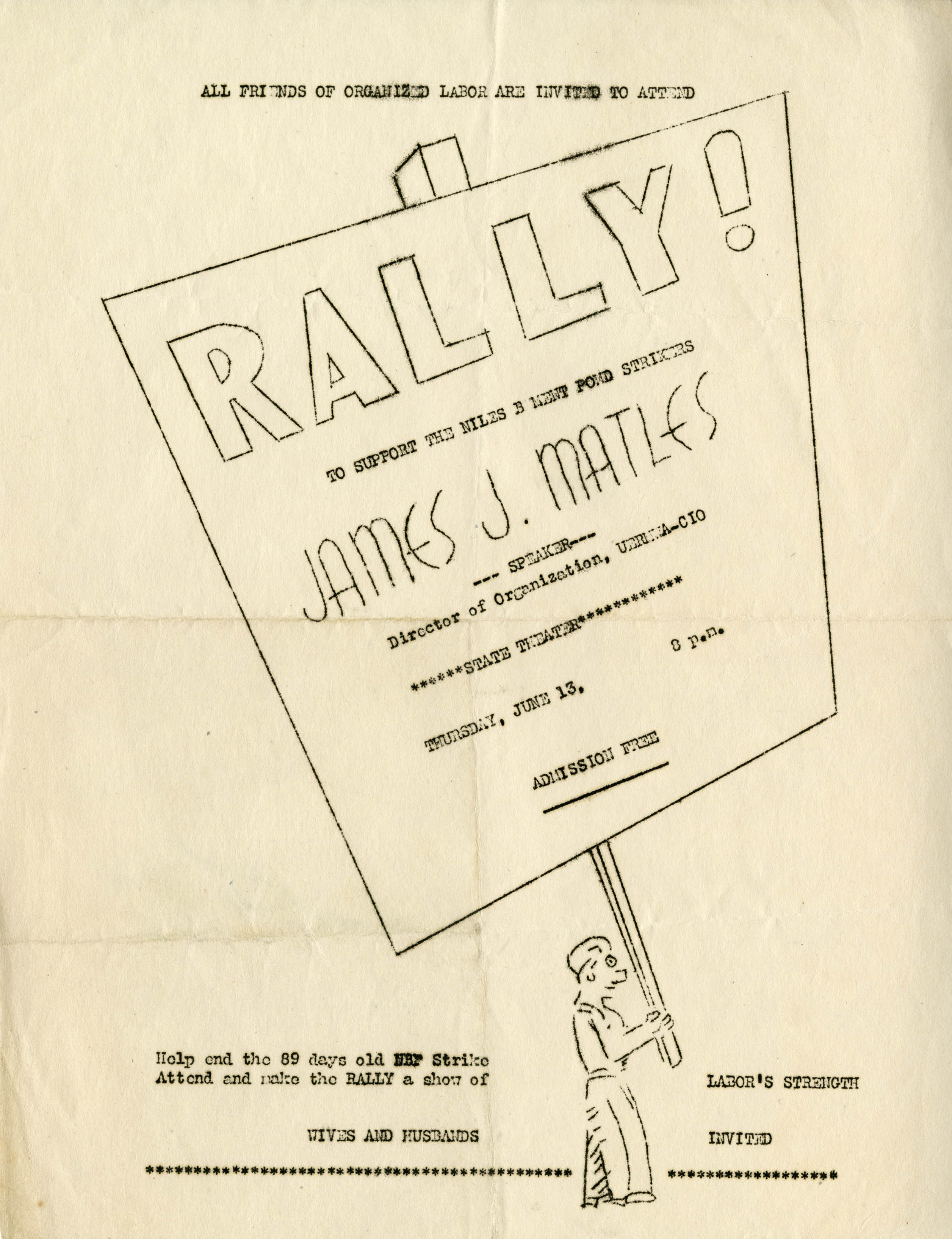 """Rally"" flyer, 1946 (Henry Stieg Collection)"