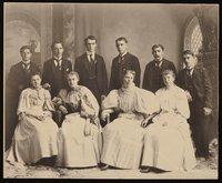 1896 class portrait of the Storrs Agricultural College (the first class portrait that includes women)