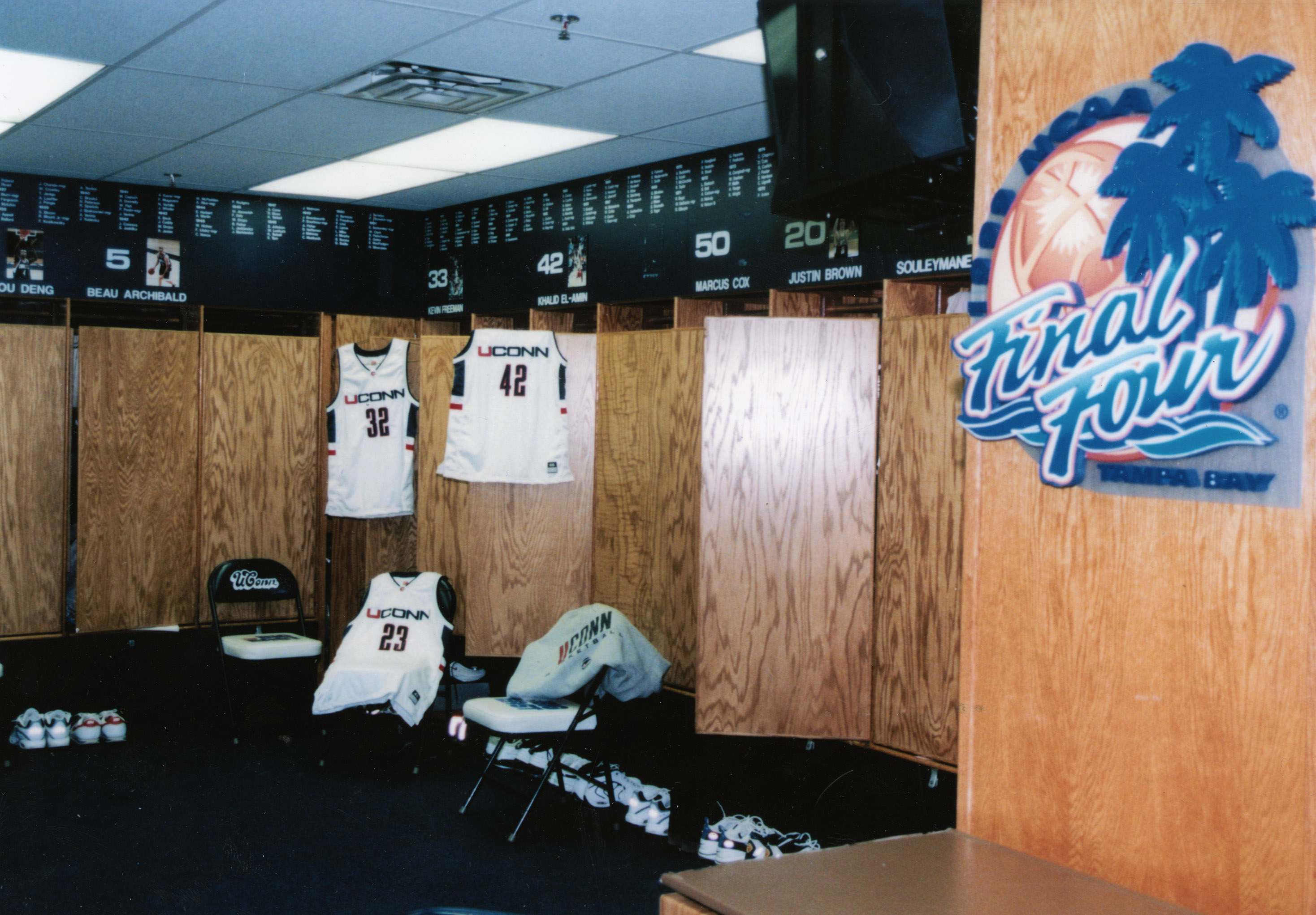 1999 Men's Basketball locker room