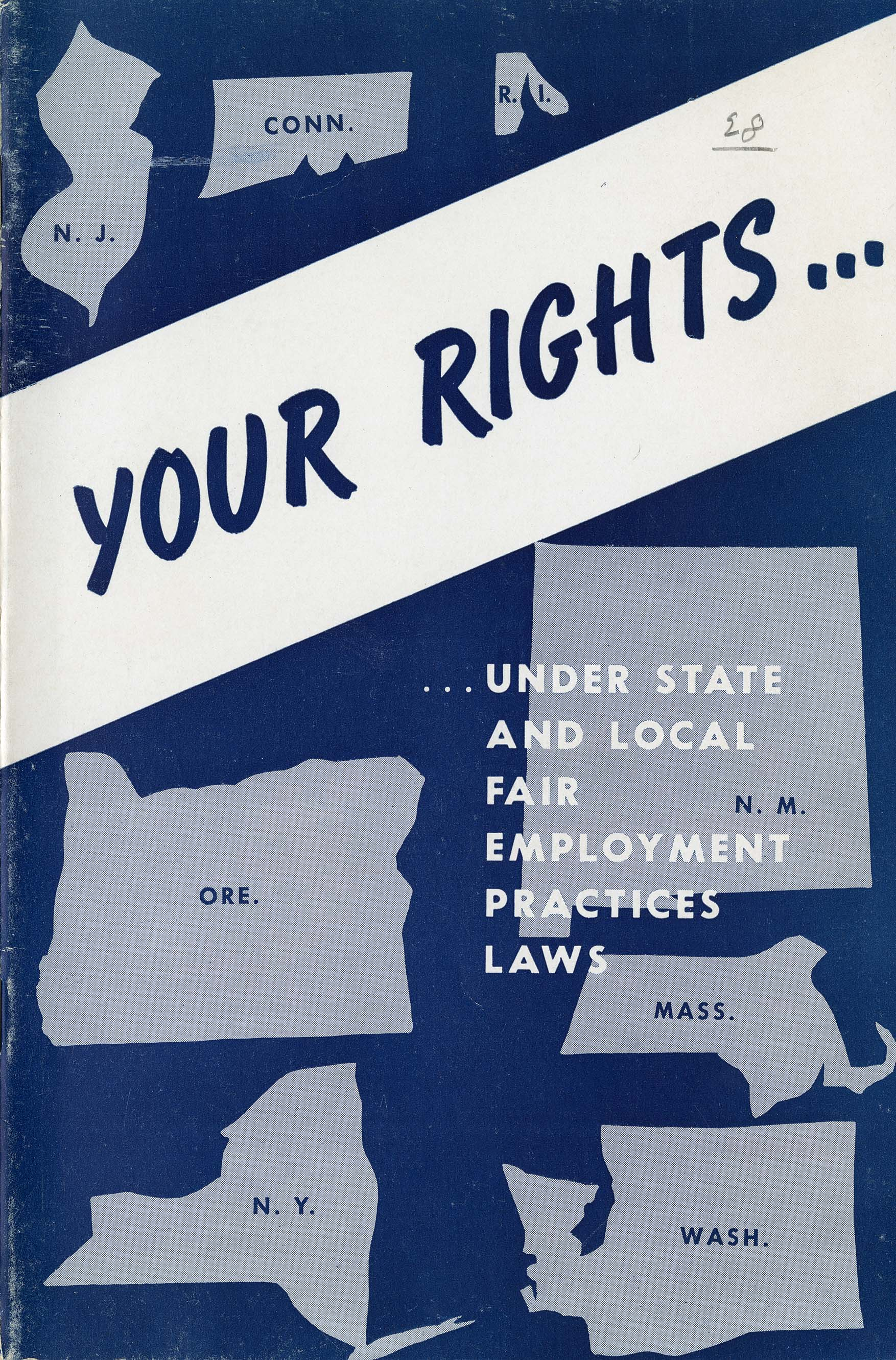 "-	Front cover from ""Your Rights …"" Pamphlet produced by the Connecticut Commission on Civil Rights"