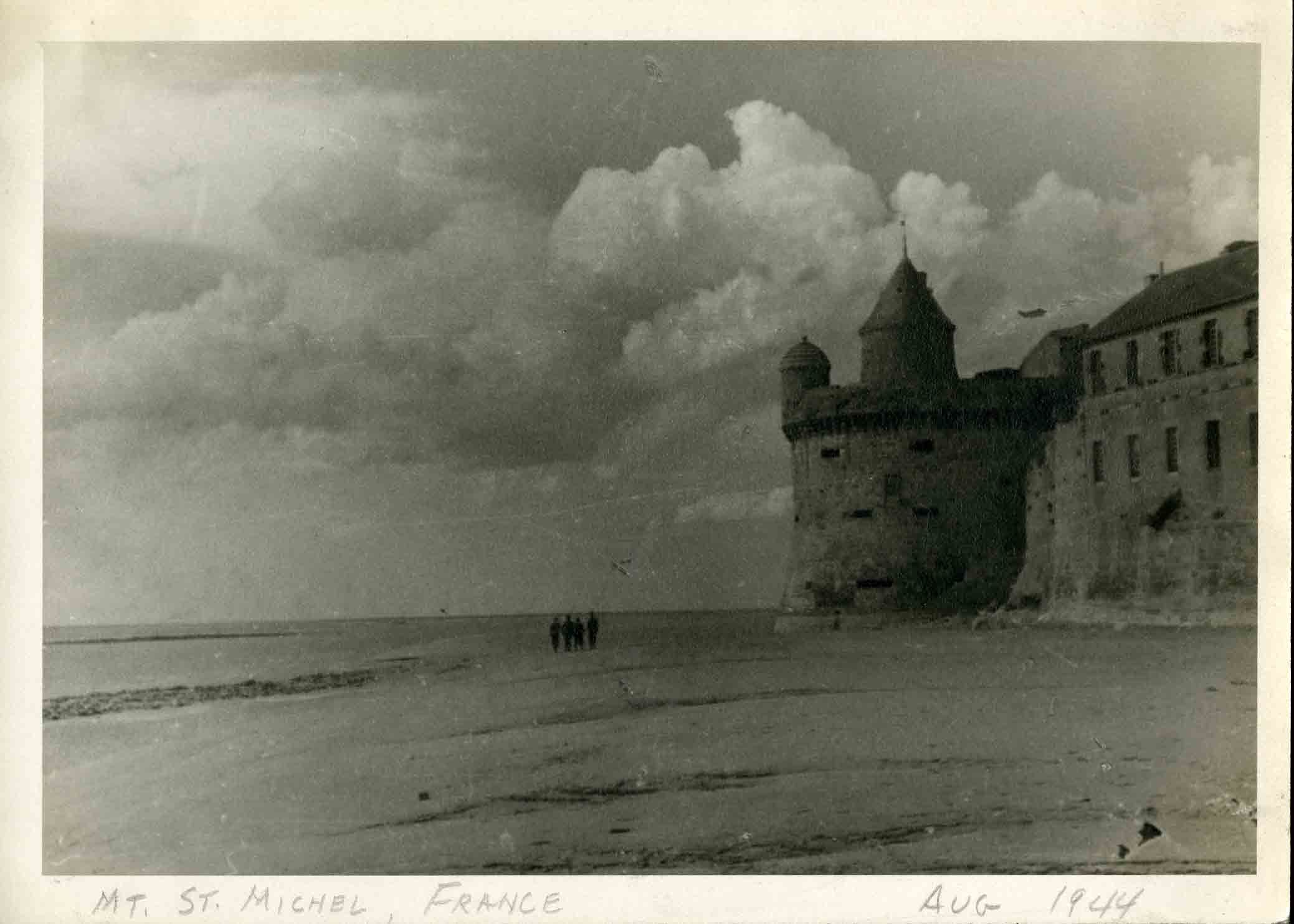 August 1944, Mont Saint-Michel, France. Photograph taken by James W. Wall.