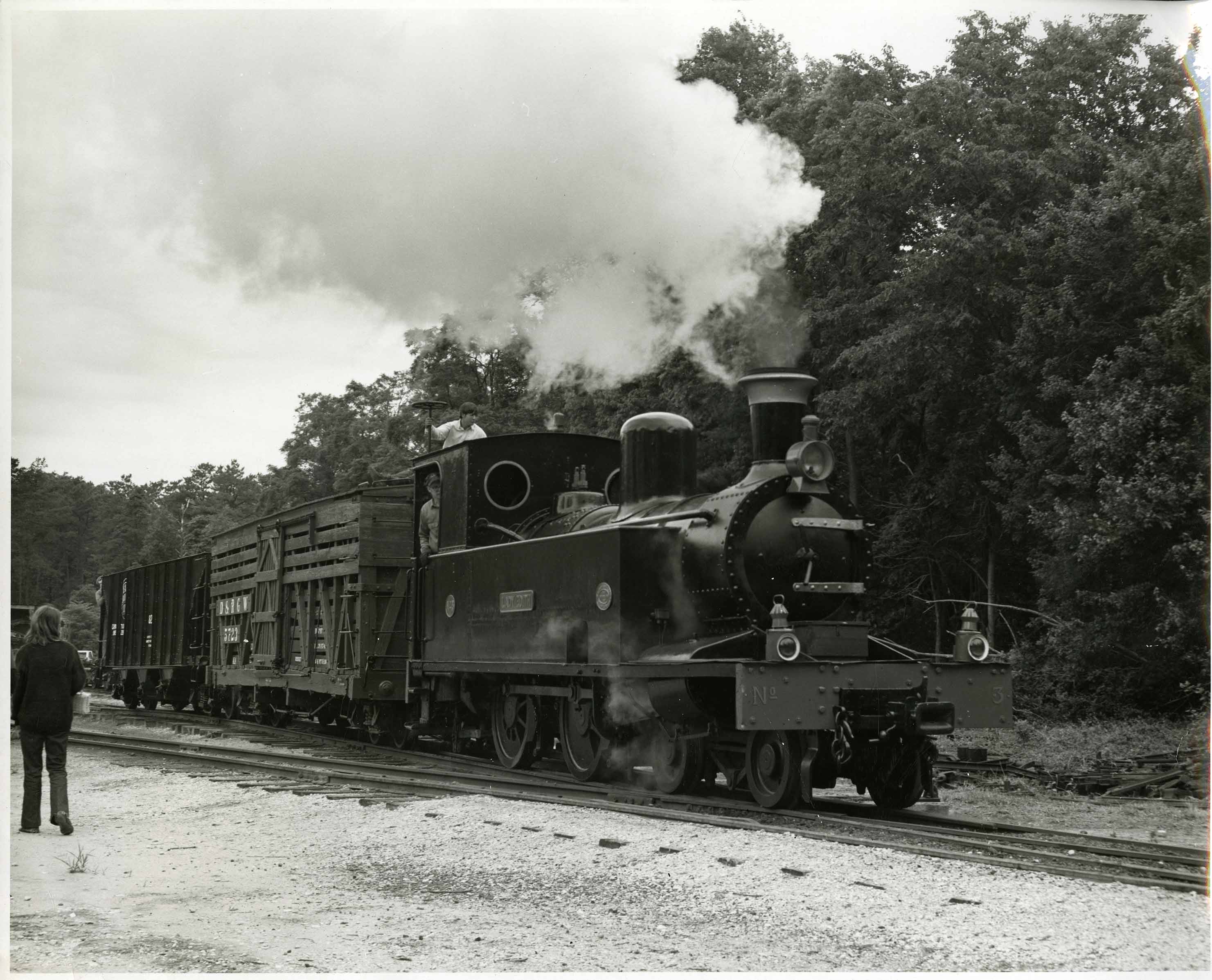 The Lady Edith steam locomotive, 1969
