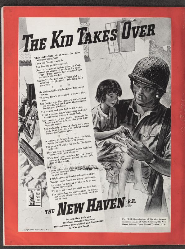 The Kid Takes Over, an October 1943 ad for the New Haven Railroad