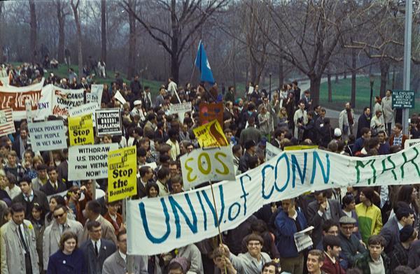 Peace March in New York City, NY (1967). Photo by Howard Goldbaum