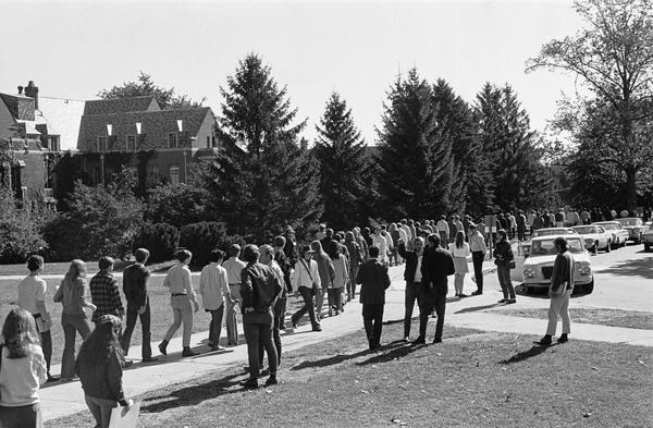 "October 9, 1969, protest on the UConn Campus, ""North Campus Against Racism"""