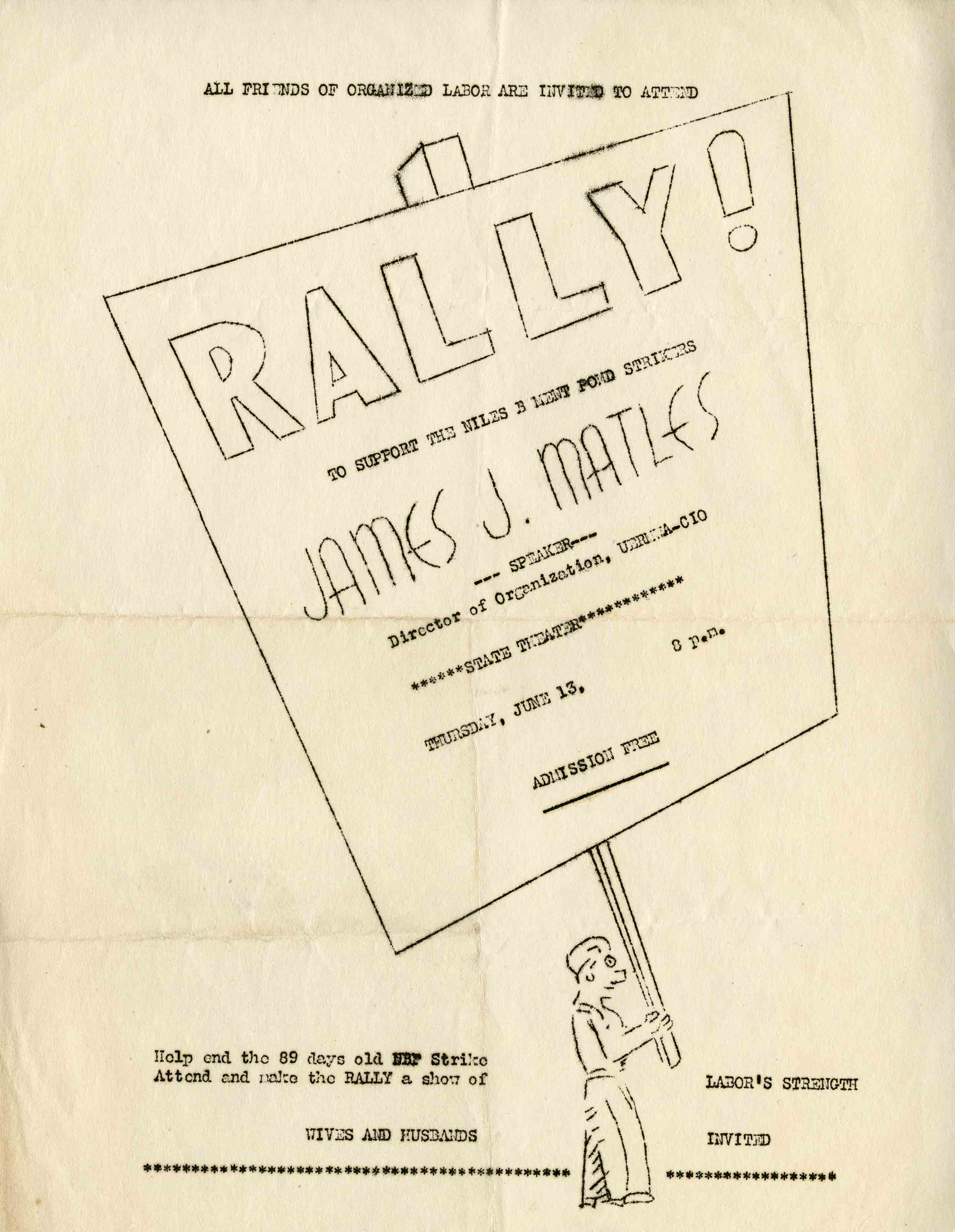 Rallye flyer from the Henry Stieg Collection, 1946