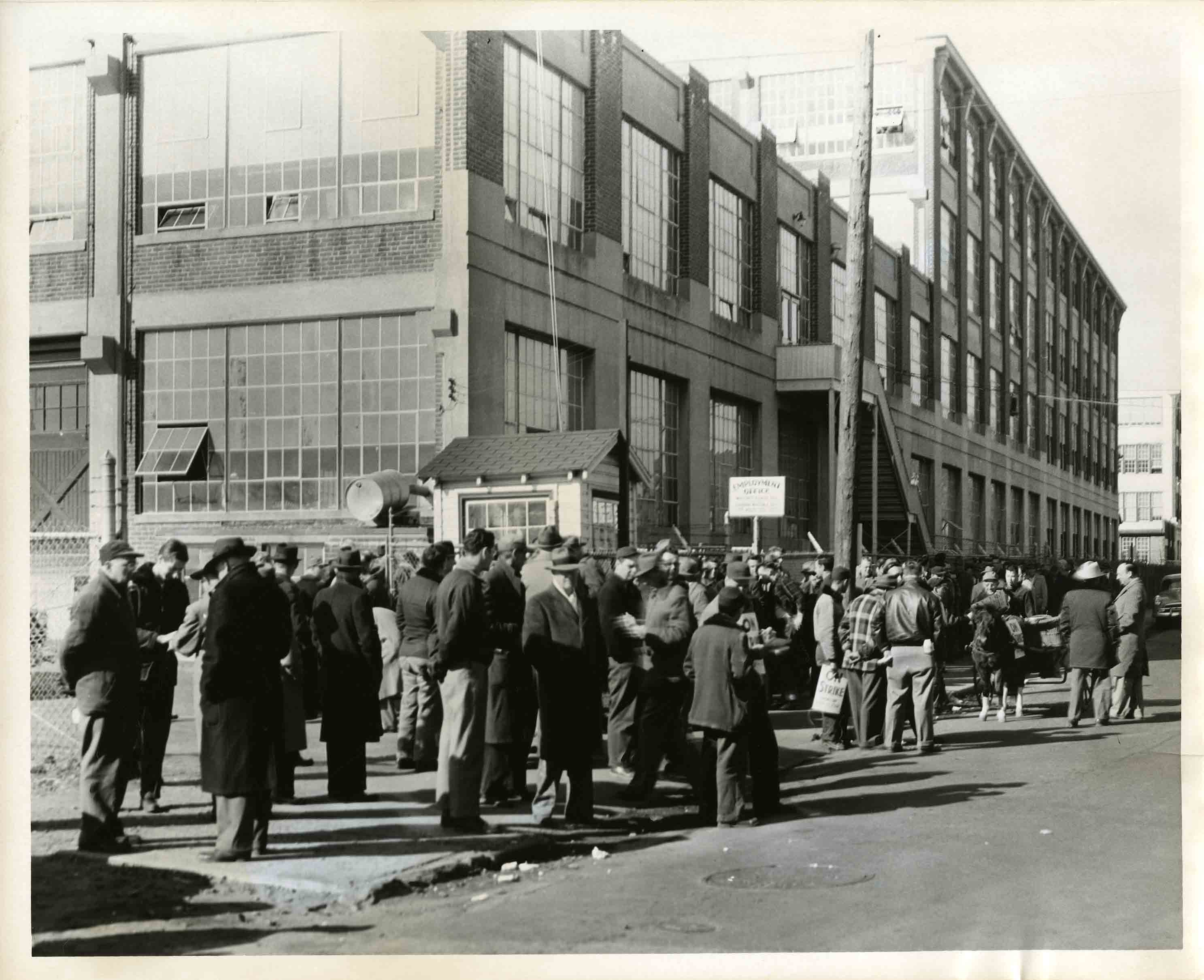 Striking workers of the Hansen & Whitney Local 295, date unknown, from the James A. Ingalls Papers
