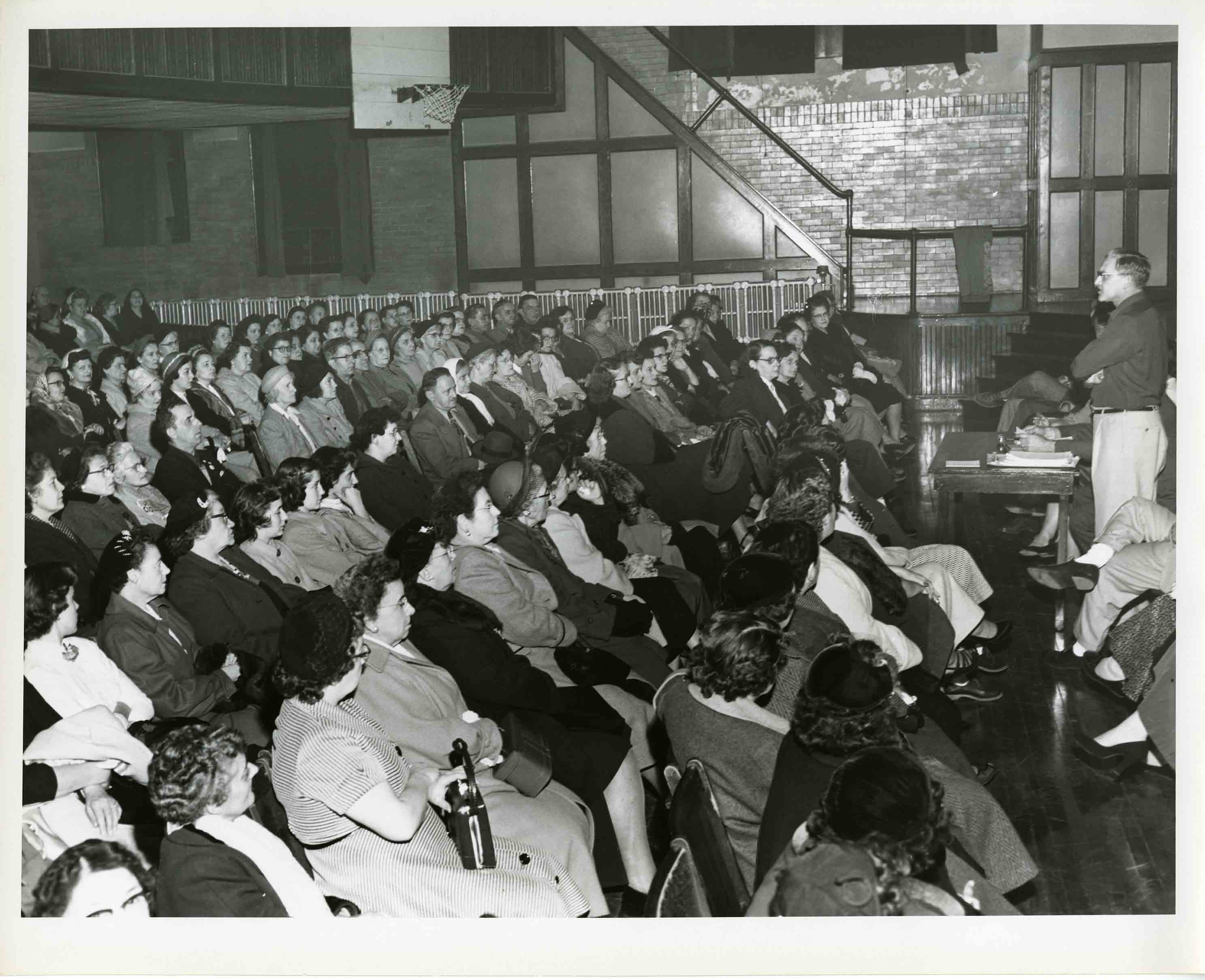 Union meeting of the Hansen & Whitney Local 295, date unknown, from the James A. Ingalls Papers