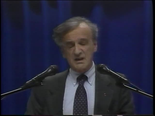 """Fifty Years after Nuremberg: Nobel Laureate Address by Elie Wiesel"" (1995)"