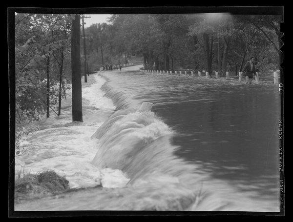 Flooding in Mansfield from the Hurricane of September 1938