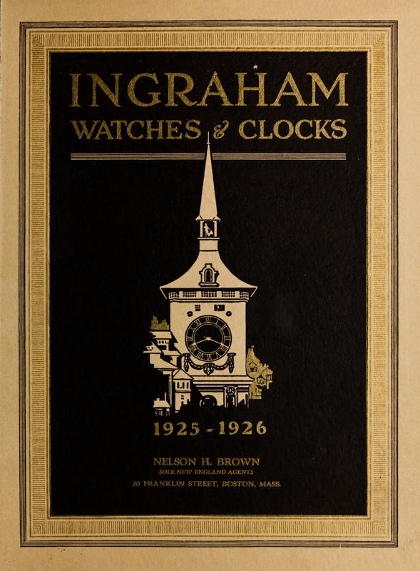 Cover of an E. Ingraham Company sales catalog, 1925-1926